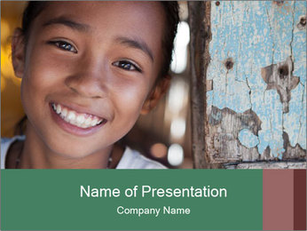 Girl From Philippines PowerPoint Template - Slide 1