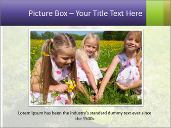 Girl playing on the grass PowerPoint Templates - Slide 15