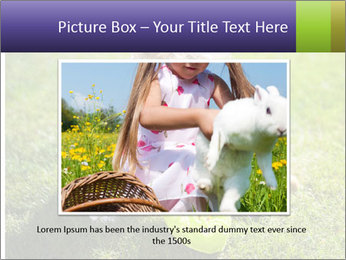 Girl playing on the grass PowerPoint Templates - Slide 16
