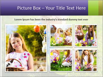 Girl playing on the grass PowerPoint Templates - Slide 19
