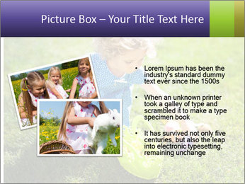 Girl playing on the grass PowerPoint Templates - Slide 20