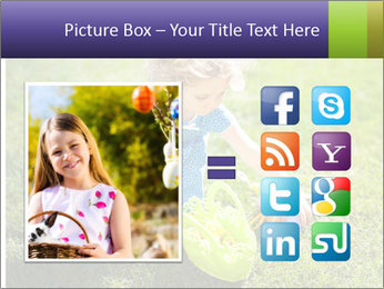 Girl playing on the grass PowerPoint Templates - Slide 21