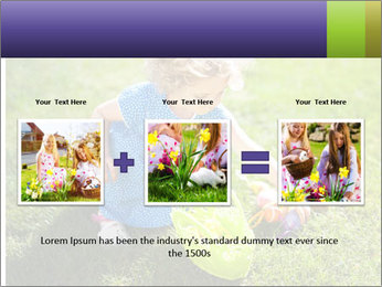 Girl playing on the grass PowerPoint Templates - Slide 22