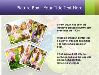 Girl playing on the grass PowerPoint Templates - Slide 23