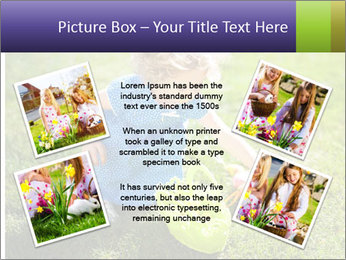 Girl playing on the grass PowerPoint Templates - Slide 24