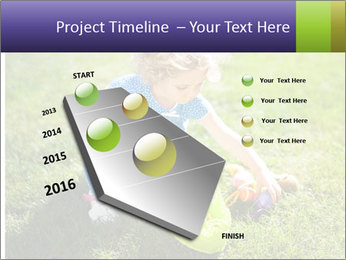 Girl playing on the grass PowerPoint Templates - Slide 26