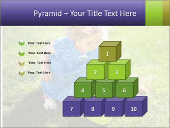 Girl playing on the grass PowerPoint Templates - Slide 31