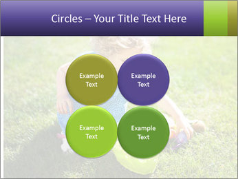 Girl playing on the grass PowerPoint Templates - Slide 38