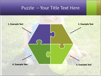 Girl playing on the grass PowerPoint Templates - Slide 40
