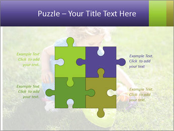 Girl playing on the grass PowerPoint Templates - Slide 43
