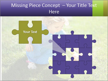 Girl playing on the grass PowerPoint Templates - Slide 45