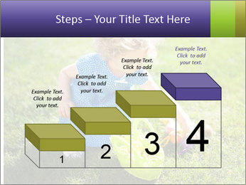 Girl playing on the grass PowerPoint Templates - Slide 64