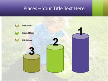 Girl playing on the grass PowerPoint Templates - Slide 65
