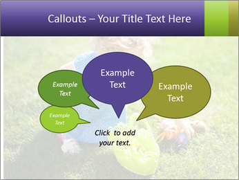 Girl playing on the grass PowerPoint Templates - Slide 73