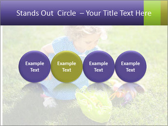 Girl playing on the grass PowerPoint Templates - Slide 76