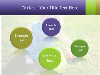 Girl playing on the grass PowerPoint Templates - Slide 77