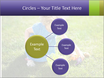 Girl playing on the grass PowerPoint Templates - Slide 79