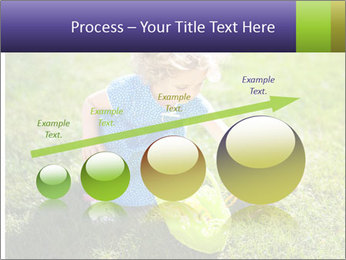 Girl playing on the grass PowerPoint Templates - Slide 87