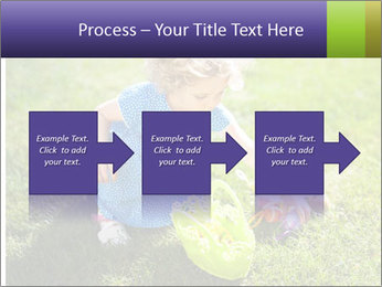 Girl playing on the grass PowerPoint Templates - Slide 88