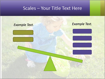 Girl playing on the grass PowerPoint Templates - Slide 89
