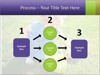Girl playing on the grass PowerPoint Templates - Slide 92