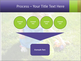Girl playing on the grass PowerPoint Templates - Slide 93