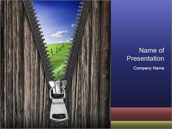Open Horizons PowerPoint Template - Slide 1