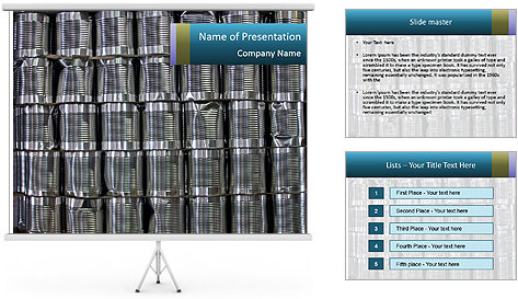 Big Tins PowerPoint Template