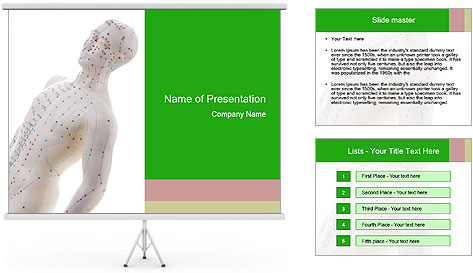 Mannequin Of Man PowerPoint Template