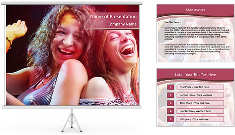 Girls Party PowerPoint Template