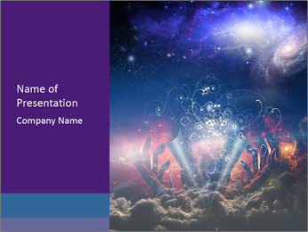 Cosmic Space PowerPoint Template - Slide 1