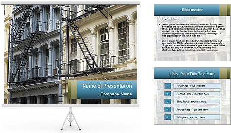 Reconstruction of buildings PowerPoint Template