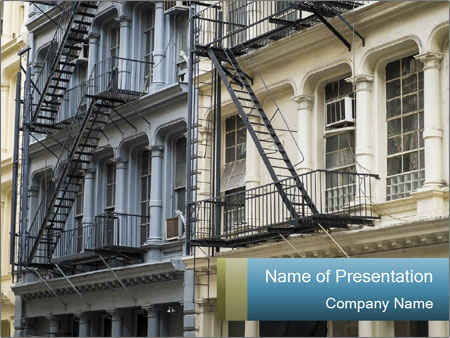 Reconstruction of buildings PowerPoint Templates