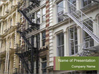 Grey Building Facade PowerPoint Template