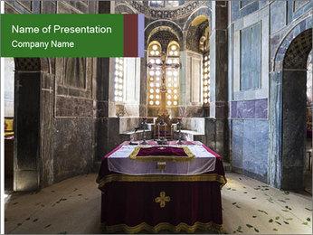 Monastery Room PowerPoint Templates - Slide 1