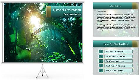 Green Jungle PowerPoint Template