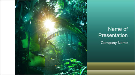 green jungle powerpoint template backgrounds google slides id