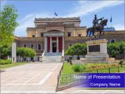 Greek administrative building PowerPoint Template