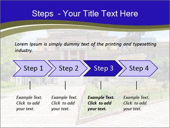 Greek administrative building PowerPoint Template - Slide 4