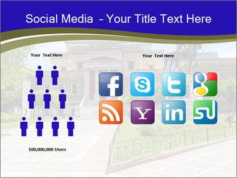 Greek administrative building PowerPoint Template - Slide 5