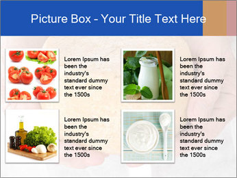 Fresh cheese in the hands PowerPoint Templates - Slide 14