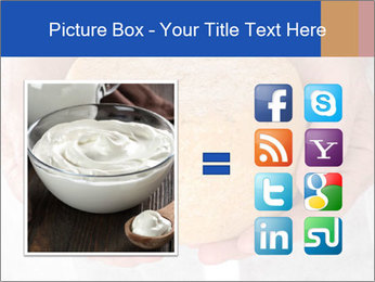 Fresh cheese in the hands PowerPoint Templates - Slide 21