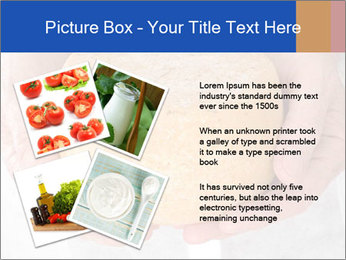 Fresh cheese in the hands PowerPoint Templates - Slide 23