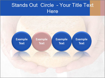 Fresh cheese in the hands PowerPoint Templates - Slide 76