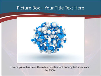 Glowing unusual flower. PowerPoint Template - Slide 15