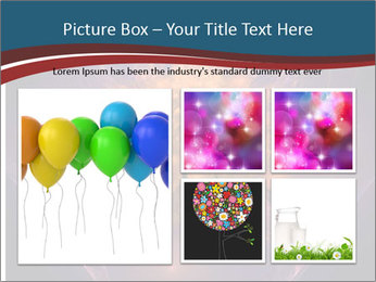 Glowing unusual flower. PowerPoint Template - Slide 19
