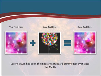 Glowing unusual flower. PowerPoint Template - Slide 22