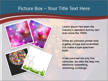 Glowing unusual flower. PowerPoint Template - Slide 23