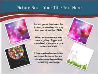 Glowing unusual flower. PowerPoint Template - Slide 24