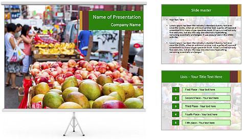 Vegetable Market PowerPoint Template